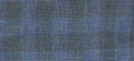 28ct Natural/Blue Jeans Gingham overdyed linen 36x27 cross stitch fabric Weeks  - $56.90