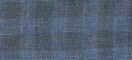 28ct Natural/Blue Jeans Gingham overdyed linen 13x18 cross stitch fabric Weeks  - $14.40