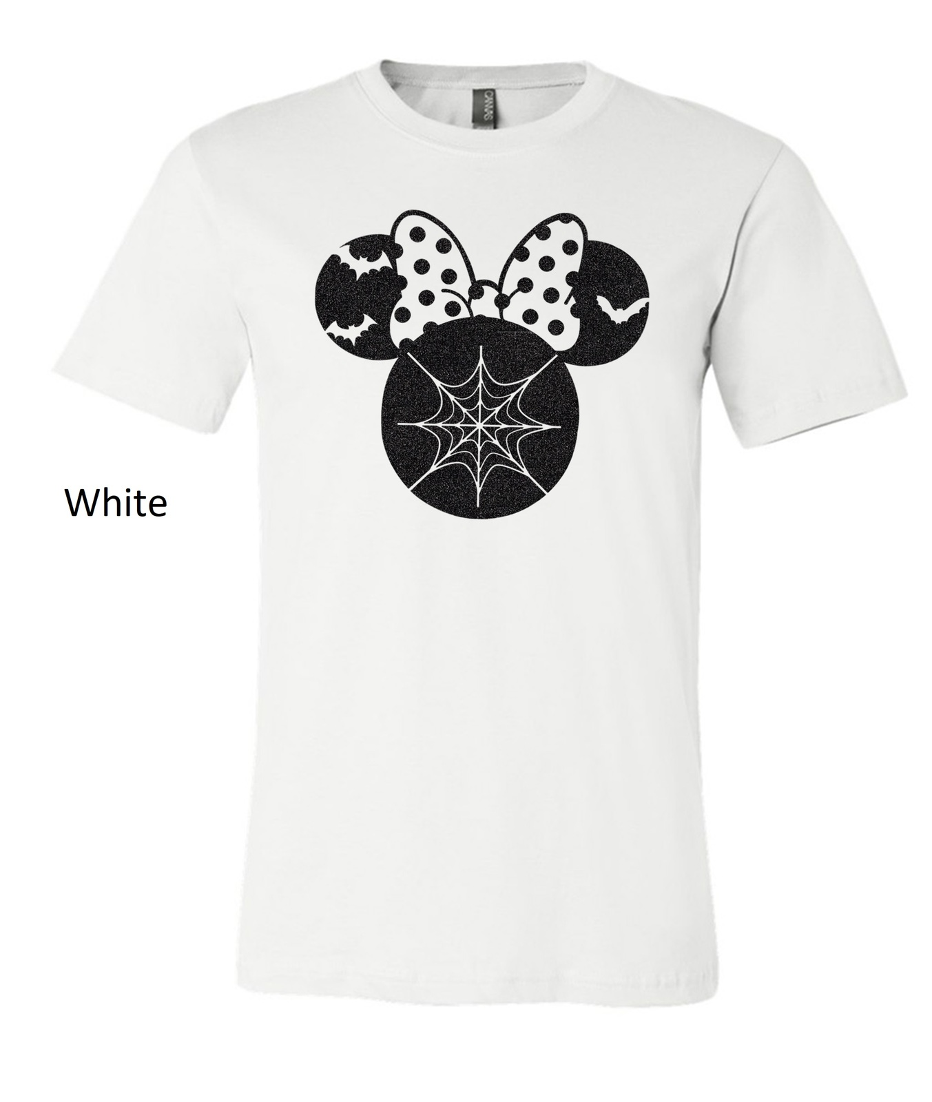 Halloween Minnie Mouse t shirt, minnie mouse glittered artwork design top tee image 11