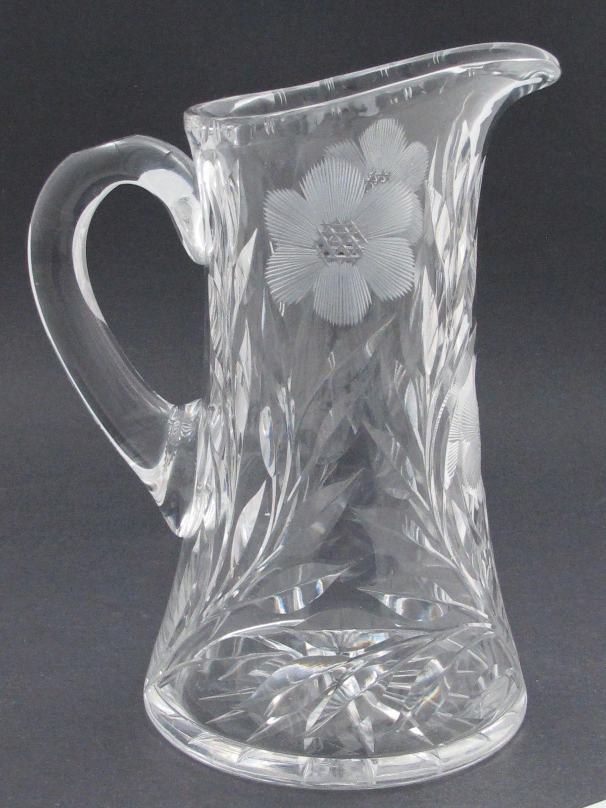 Antique Cut Glass Water Pitcher