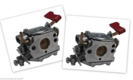 Set of 2 Genuine OEM 545006017 Poulan Craftsman Trimmer Carburetor Zama C1U-W32 - $54.75