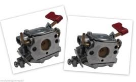 Set of 2 Genuine OEM 545006017 Poulan Craftsman Trimmer Carburetor Zama ... - $54.75
