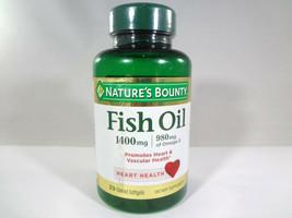 Nature's Bounty - Fish Oil 1400mg - Heart Health - 39 Coated Softgels {V... - $11.30