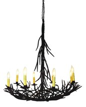 GORGEOUS ITALIAN 8 LIGHTS BROWN OR GOLD IRON TWIG CHANDELIER,36.5''H - $939.51