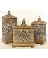 AWESOME SET OF THREE DECORATIVE RESIN BOXES - $123.75