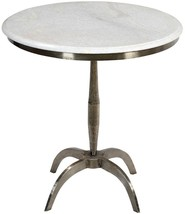 Awesome Iron Marble side-Accent Table,23''D X 24''H. - $741.51