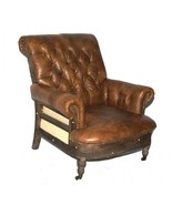 ELEGANT ARTSOME LEATHER/LINEN ACCENT/OFFICE DESK CHAIR,41'' X 34'' X 38''H. - $1,757.25