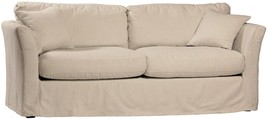 Chic Shabby French Style Linen/Cotton  Slip Covered Sofa,80''L X 35'' X 30''H. - $1,975.05