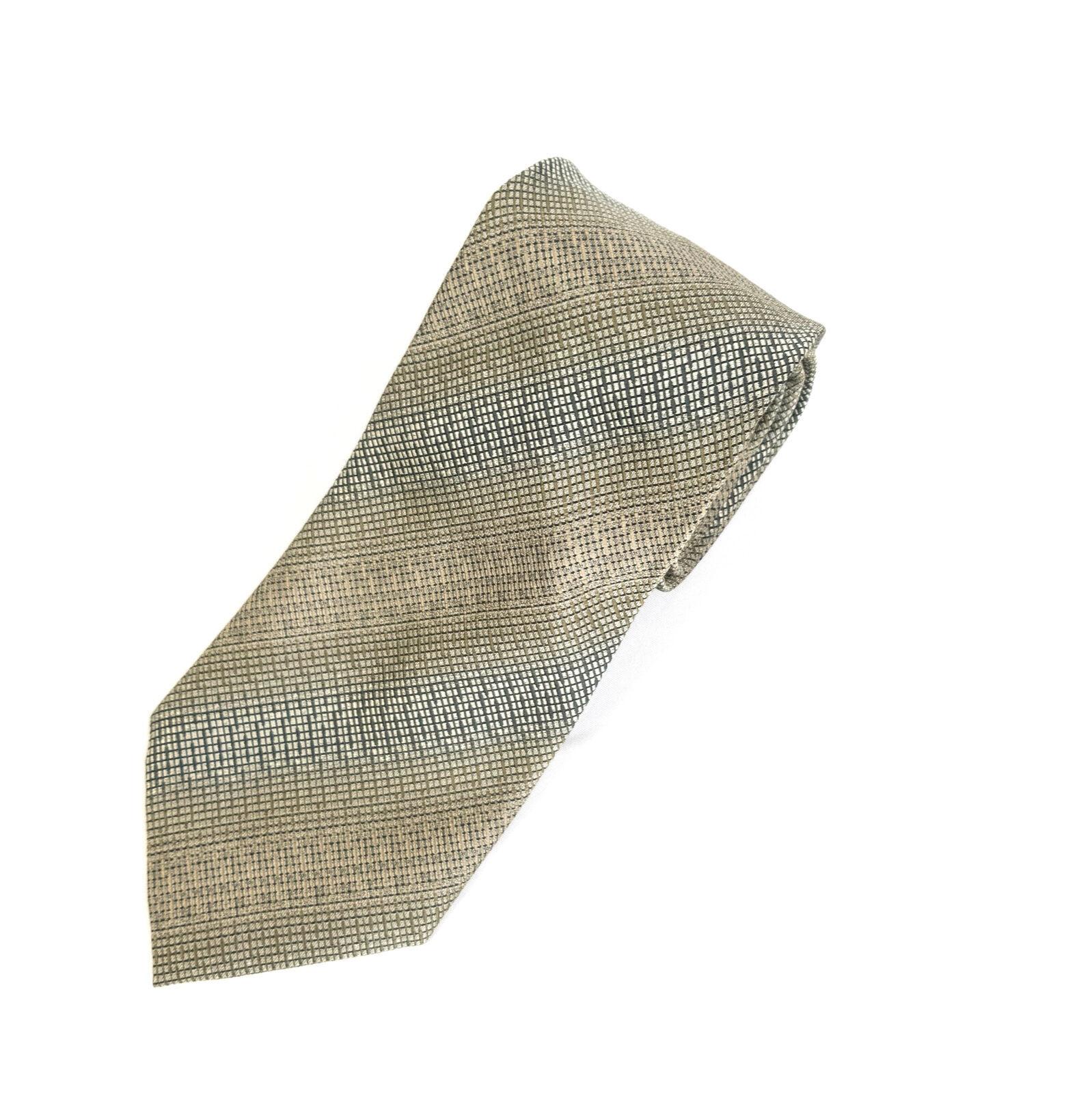 Kenneth Cole New York Green Geometric Silk Necktie Tie