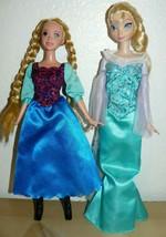 "Disney Frozen Elsa & Anna Dolls 11"" lot of two - $16.79"