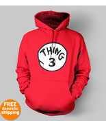 Thing 1 Thing 2 Thing 3 Hoodie Dr Seuss Cat in ... - $29.85 - $32.85