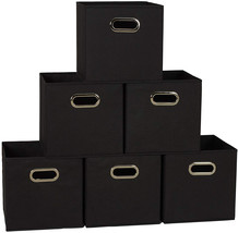 Household Essentials 80-1 Foldable Fabric Storage Bins | Set of 6 Cubby ... - $37.84
