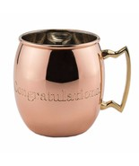 """Old Dutch Nickel Solid Copper """"Congratulations"""" engraved Moscow Mule Mug... - $19.99"""
