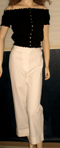 Victoria's Secret $50 White Bridget Fit Cropped Pants 16 - $21.00