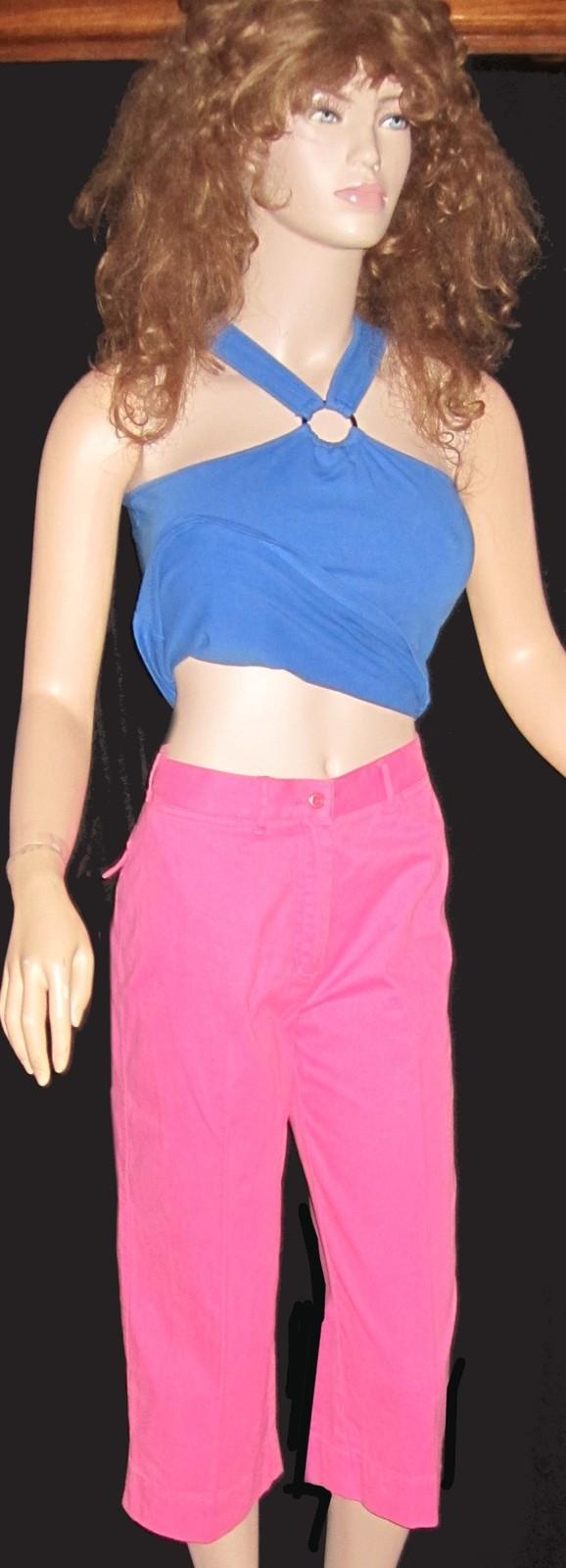 Ralph Lauren $119 Hot Pink Cropped Pants 8 Petite   Generic