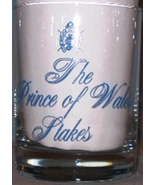 The Prince of Wales Stakes Rocks Glass 1987 Light Blue - $5.00