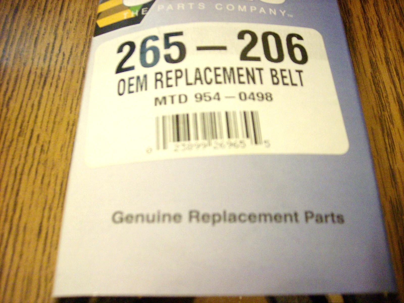 "MTD and Troy Bilt Deck Belt, 42"" Cut, 754-0498, 954-0498"