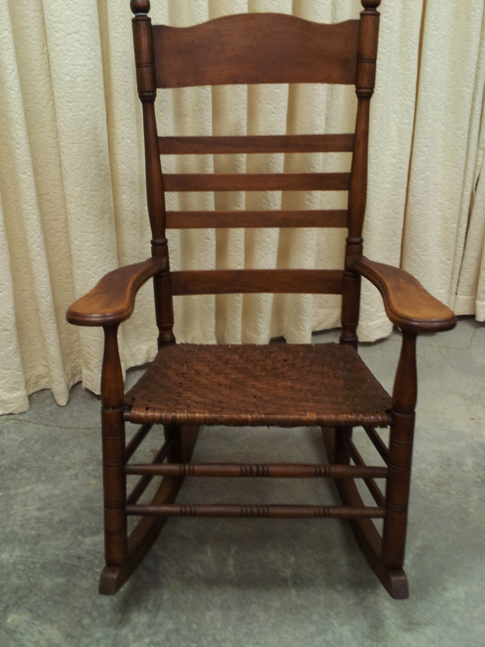 Antique Maple Rocking Chair With