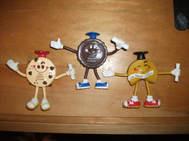 ONE SMART COOKIE 1988 Applause Lot of 3 Graduation Bendable Figure Fortune Chip - $19.99