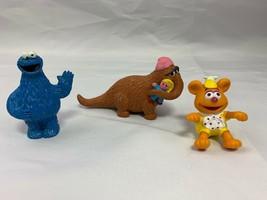 Muppets Applause Sesame Street Snuffleupagus PVC Figure w/ Baby Doll & E... - $12.82