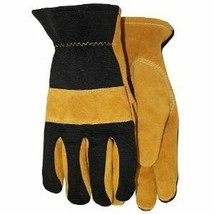 Midwest Premium Grade Work Gloves Leather Gloves Pack of 2 Large - $12.19