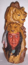 1995 NAVAJO NATIVE AMERICAN INDIAN STYLE CHIEF POTTERY SIGNED AM & RC - $94.14