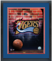 Philadelphia 76ers Team Logo - 11 x 14 Matted/Framed Photo - $43.55
