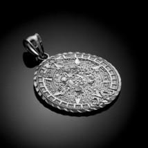 White Gold Aztec Mayan Sun Calendar Pendant (M- 1.65 Inches) - $274.99+