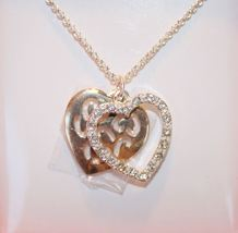 'Tales of Love' Necklace and Earring Gift Set - Gold and Silver tone, Rh... - $10.98