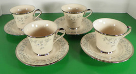 Lenox WINDSONG Cup and Saucer Set (s) LOT OF 4 White Flowers - $64.19