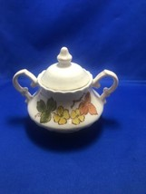 Vernonware Metlox ~ Sherwood  ~ Autumn Leaves ~ Sugar Dish  Vintage Suga... - $7.69