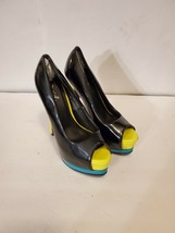 Qupid Multi-Colored Patent Leather Platform Heels Women's Size 6.5 - $20.00