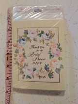 Hallmark Bridal Shower Thank You Blank Card 8 Pack Sealed Floral Border - $5.00