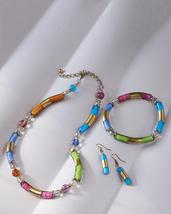 Smithsonian Venetian Spring Murano Glass Jewelry Necklace, Bracelet or E... - $59.99+
