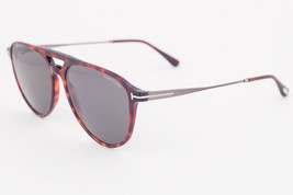 Tom Ford Aviator Sunglasses TF587 Carlo-02 54N Havana / Green 58mm FT0587 - $165.62
