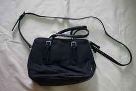 Pre-Owned COACH Vintage Black Canvas Crossbody Zipper Handbag - Classic - $28.01