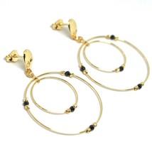 Ohrringe Anhänger Gelbgold 750 18K, Doppelt Kreis, Turmaline, Kugel image 1