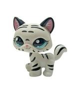 Littlest Pet Shop Short Hair Cat Rare LPS Toy White Tiger Pretend Play 1498 - $9.89