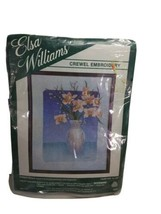 Elsa Williams Pre-Printed Crewel Embroidery Kit Summer Orchid 00318 - $58.79