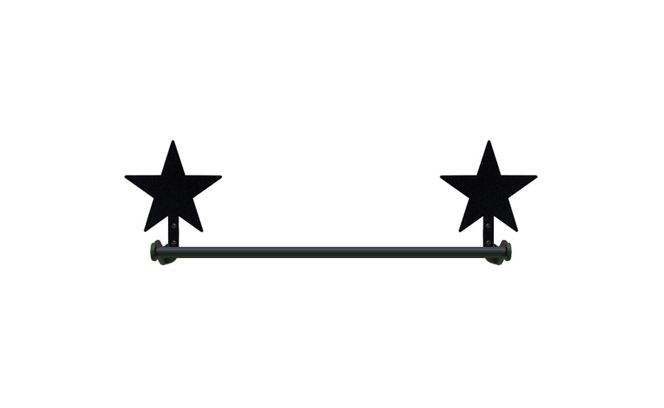 Wrought Iron Small Towel Rack Bar Star Bathroom Kitchen Home Decor Accent Bath