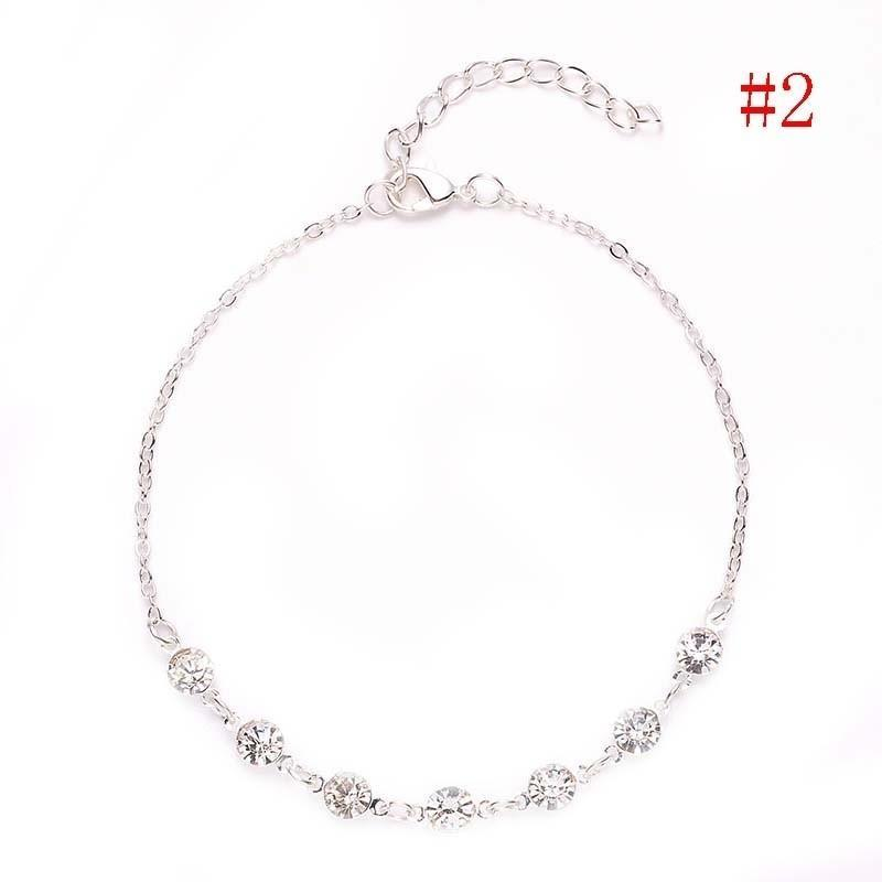 Adjustable Foot Chain Beach Style Silver Ankle Bracelet Women Anklet Jewelry