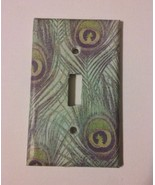 Peacock Feather Light Switch Plate Cover Home Wall decor Gift Green - $8.14