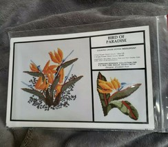 Hawaiian Designin BIRD OF PARADISE Counted Cross or Needlepoint Elizabet... - $12.19
