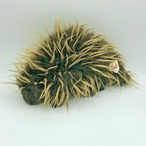 Folkmanis Porcupine Hand Puppet Brown Plush Toy Animal Spines Quills - $12.99