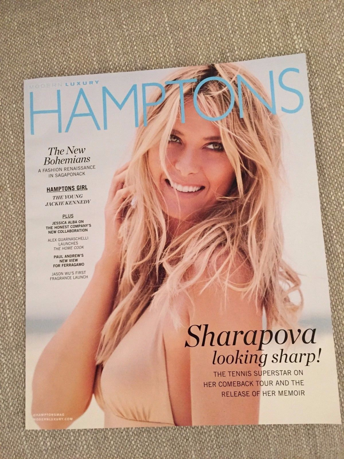 Primary image for Hamptons Magazine Maria Sharapova; Fashion; Jackie Kennedy; Jessica Alba 2017 NF