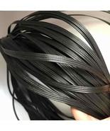 Synthetic Rattan Weaving Material Black 60M Plastic Knit Repair Chair Ta... - $34.63