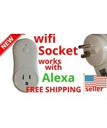 New WIFI SOCKET S1 SERIES WORKS w/ALEXA USB Set Timer Remote Access Ener... - $9.89