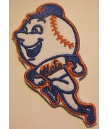 """New York Mets~Mr. Met~Embroidered PATCH~2 7/8"""" x  1 1/2""""~Iron Sew~MLB~Sh... - $4.95"""