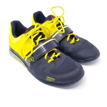 Reebok Crossfit 2.0 Mens Size 11.5 Lifter Training Shoes Navy Yellow M45395 - $74.99