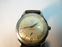 Vintage 1950S Elgin Shockmaster Durapower 715 Watch For Restoration Or Parts - $91.92